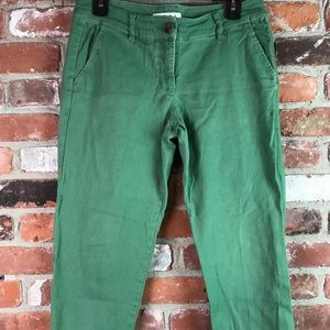 Cabi green twill pants size 4